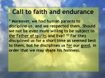 call to faith and endurance57