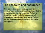call to faith and endurance58