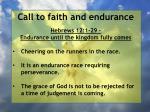 call to faith and endurance6