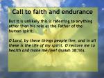 call to faith and endurance60