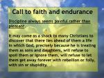 call to faith and endurance62