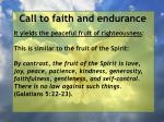 call to faith and endurance64