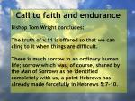 call to faith and endurance65