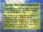 call to faith and endurance66