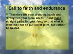 call to faith and endurance69