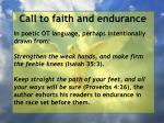 call to faith and endurance71