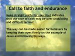 call to faith and endurance73
