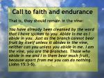 call to faith and endurance74