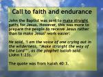 call to faith and endurance75