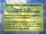 call to faith and endurance77