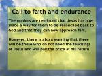 call to faith and endurance78