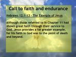 call to faith and endurance8