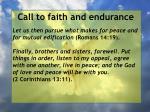 call to faith and endurance83