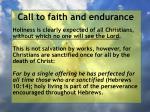 call to faith and endurance84