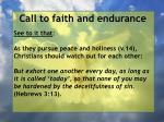 call to faith and endurance86