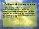 call to faith and endurance87