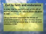 call to faith and endurance88