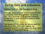 call to faith and endurance9