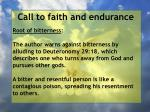 call to faith and endurance90