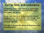 call to faith and endurance91