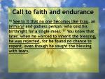 call to faith and endurance92