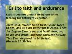 call to faith and endurance93