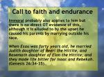 call to faith and endurance94