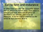 call to faith and endurance97