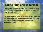 call to faith and endurance98