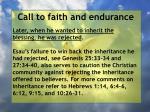 call to faith and endurance99