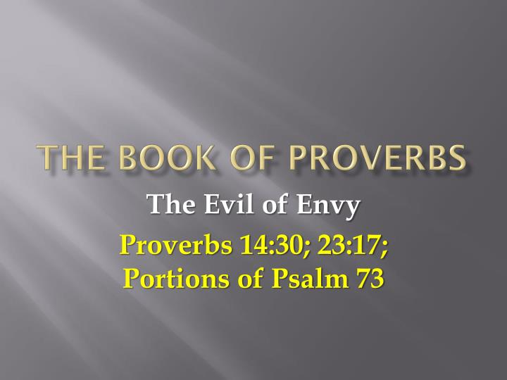 the book of proverbs n.