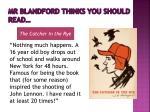 mr blandford thinks you should read