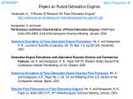 papers on pulsed detonation engines