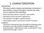 1 characterization