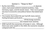 section 1 steps to war