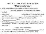 section 2 war in africa and europe