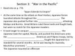 section 3 war in the pacific