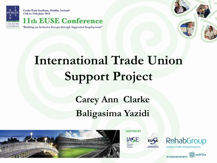 international trade union support project n.