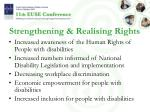 strengthening realising rights