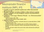 mezin rodn finan n instituce mfi ifi