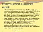 sv tov summit o soci ln m rozvoji