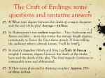 the craft of endings some questions and tentative answers2