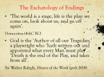 the eschatology of endings