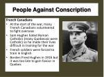 people against conscription