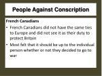 people against conscription1