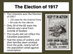 the election of 1917