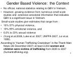 gender based violence the context
