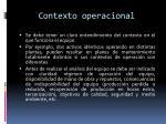 contexto operacional