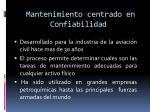 mantenimiento centrado en confiabilidad