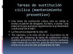 tareas de sustituci n c clica mantenimiento preventivo